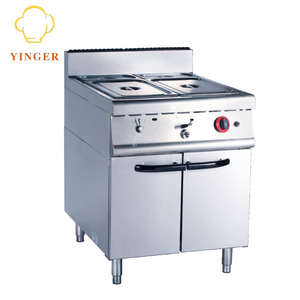 Restaurant Used Commercial Stainless Steel Gas Bain Marie With Cabinet