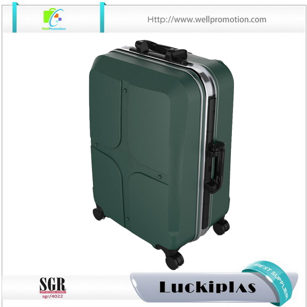Boys girls funny small metal luggage cases industrial aluminum suitcase with universal wheel