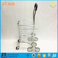 Alibaba high quality portable folding shopping trolley bag with wheels