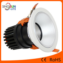 Epistar 3 years warranty 4 inch flat top cob downlight led Surface diameter 145*160mm Aluminium alloy cob downlight led 30w