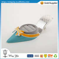 OEM and ODM hot sales Free sample Wedding return gift Shoe Shape Silver Rings Holder