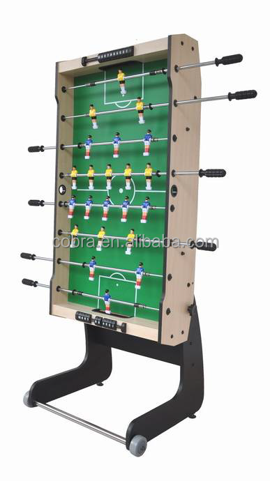 Single-Folding And Removeable 4 feet soccer table football games with wheels and accessory freely EN71-1-2-3 Testing allowed