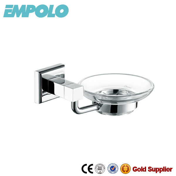 Empolo Brass square shower soap dish, bathroom accessory sets soap basket 932 06B