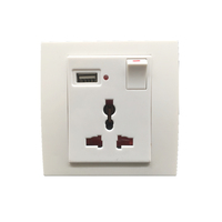13a universal electric wall switch smart plug socket with usb
