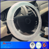 car accessory disposable plastic steering wheel cover