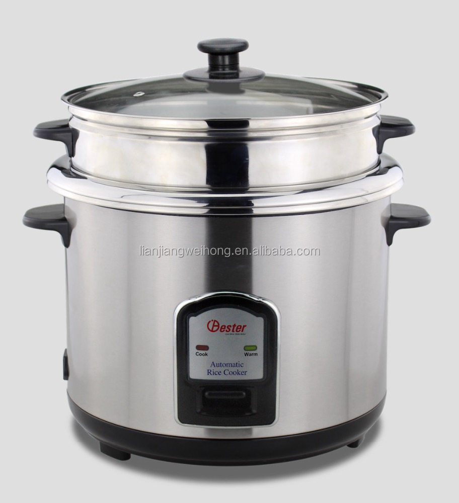 Bester Stainless Steel double pot rice cooker WH-50J02S