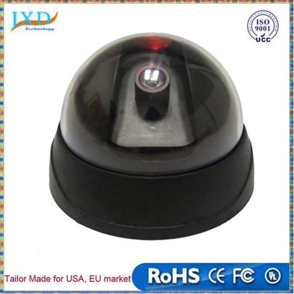 Dummy CCTV Security Dome Camera Dome Office Safety Camera with Flashing Red LED Light