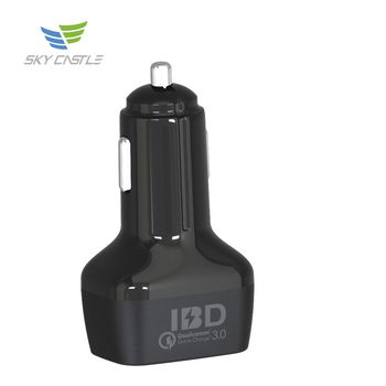 Universal qc 3.0 4.8a 12v dual usb micro qi portable wireless mobile phone car fast charger