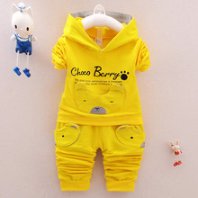 2017 wholesale fashion long sleeve 2 pieces kids hoodies set baby boy clothing
