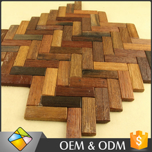 Herringbone Mosaic Wall And Floor Decoration Herringbone Wood Flooring Wall Mosaic Tile in China