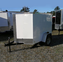 single axle enclosed box trailer