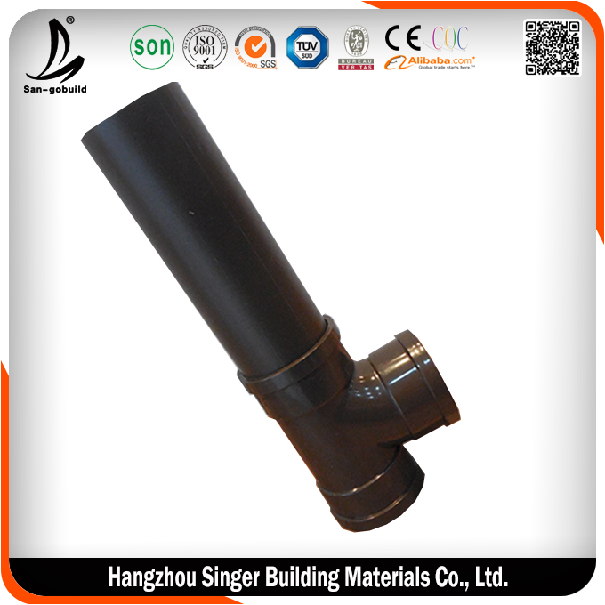 Hot sale plastic drainage pipe high quality black plastic for Types of plastic water pipe
