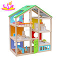 Best supplies children miniature wooden doll house set for wholesale W06A281