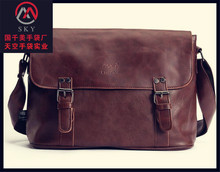 Single shoulder brown leather mens bag messenger small men shoulder bag