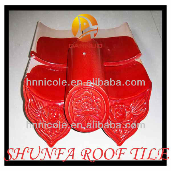 elegant anti-freeze asian ceramic roof shingles glazed antique Chinese style for great buildings