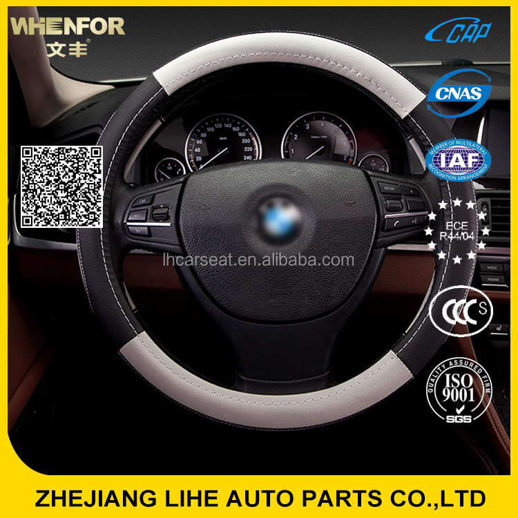 Effect assurance opt leather steering 13 inch steering wheel cover for sale