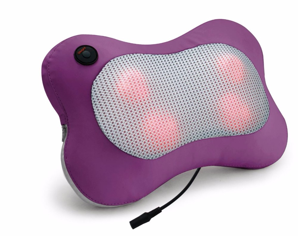 Electric Operated Heat Kneading Massage Ball Car Massage Pillow