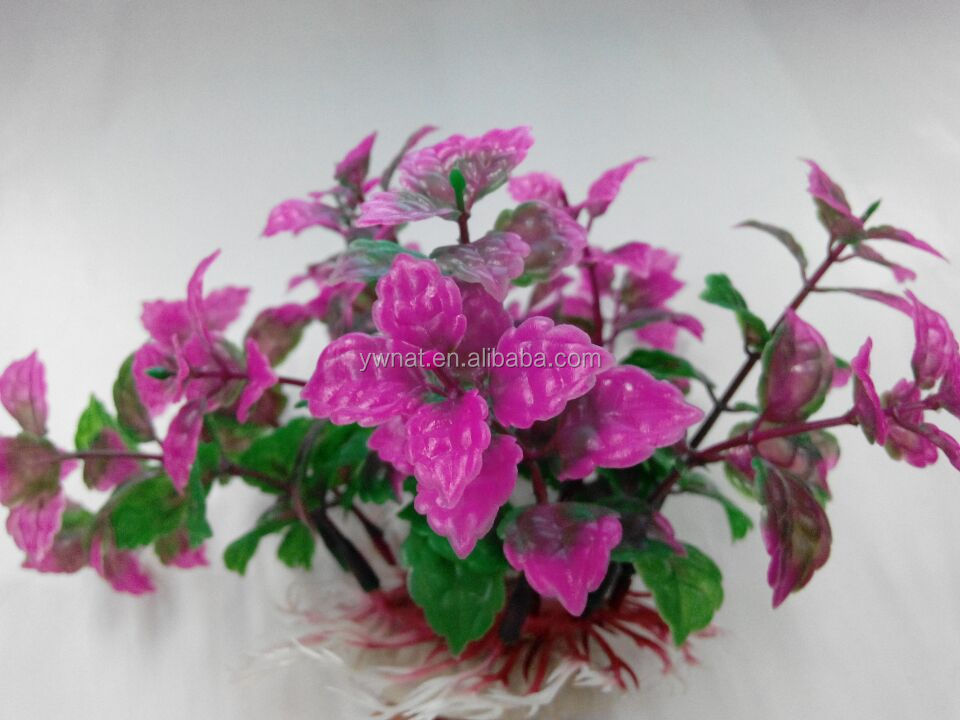 wholesale fashion pink green High Simulation Aquarium fish tank Artificial Plants