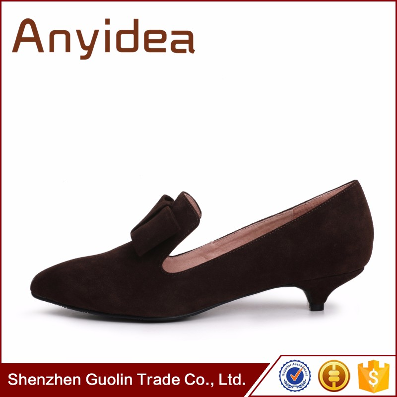 Women's low heel shoes comfortable fancy beautiful butterfly knot ladies single shoes wholesale