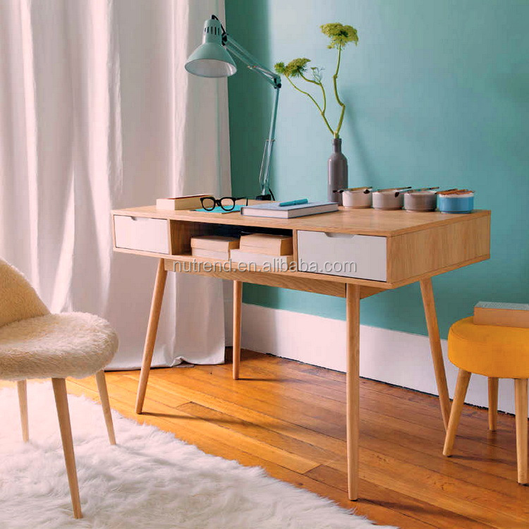 Modern wooden warehouse office desk with drawers