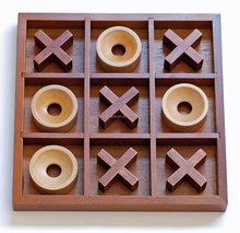Wholesale Wooden Tic Tac Toe Game Pieces Travel Board XO Game Chess Game for children