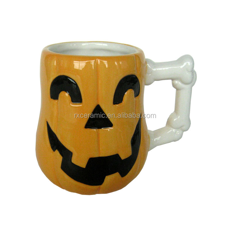 3D Eco-Friendly Halloween ceramic promotion mug