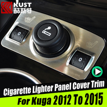 Stainless Steel Cigarette Lighter Panel Cover Trim For Kugas 2012 To 2015 Cigar Lighter Panel Frame For Escape For Ford