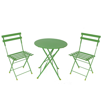 Cheap Garden 3-piece Metal Round Folding Bistro Table and Chairs Set