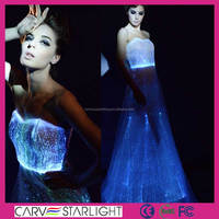 2015 hot sale royal blue wedding dresses with RGB led lights