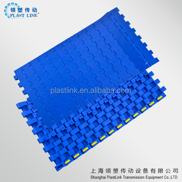 1400 series bottles transportation machine width 26.78 inch and pitch 25.4mm table top modular plastic belt China supplier