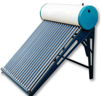 integrated non-pressurized solar water heaters
