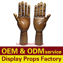 Vintage style mannequin hands, Wooden hand models for jewelry display