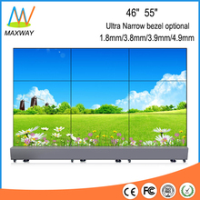 floor stand 3X3 ultra narrow bezel 55 inch lcd video wall with controller