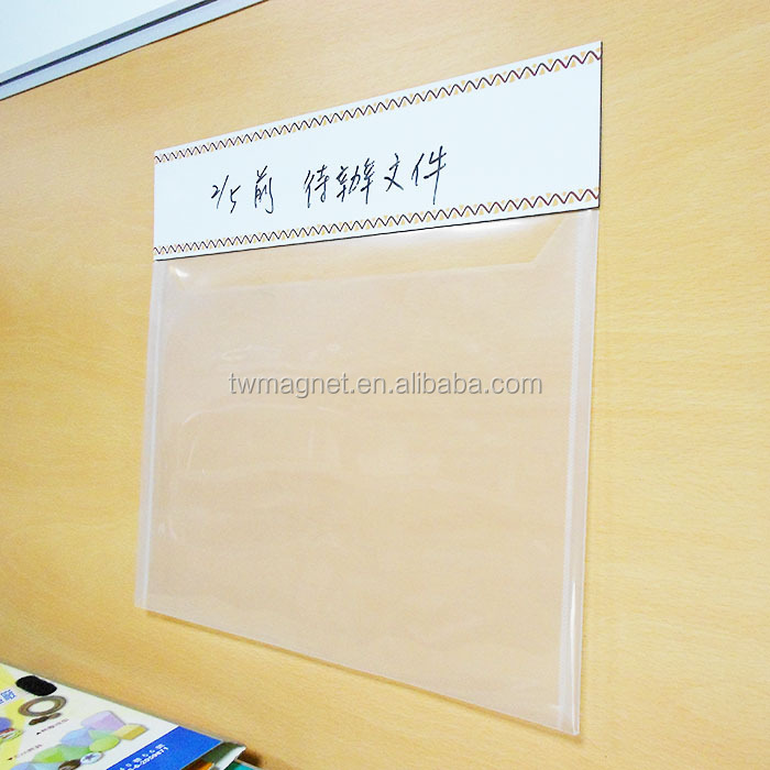 A4 Size Clear Hard Magnetic Plastic Document Holder