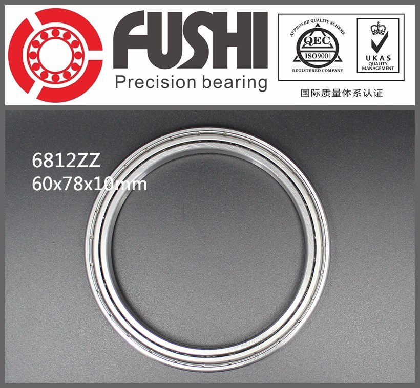 6812-2Z Bearings 1000812 dgbb 60*78*<strong>10</strong> Slim/Thin-wall Bearing 61812ZZ Shielded Deep Groove Ball Bearing 6812ZZ