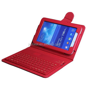 China Factory Custom High quality leather Bluetooth keyboard case for Samsung Galaxy Tab 3 Lite 7.0 SM-T110 T111