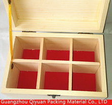 China suppliers handmade small unfinished wooden craft boxes wholesale