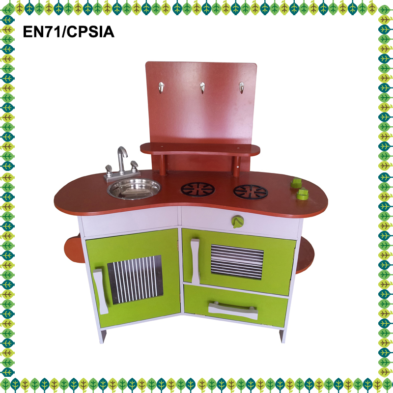 2016 latest kitchen play toys wooden children furniture wooden kitchen BBQ play toys set