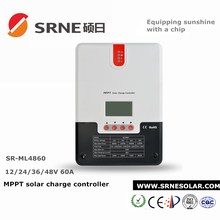 SRNE 12V/24V/36V/48V 60A Auto Detect MPPT Solar Charge Controller With LCD Display and RS232 SR-ML4860 CE ROHS