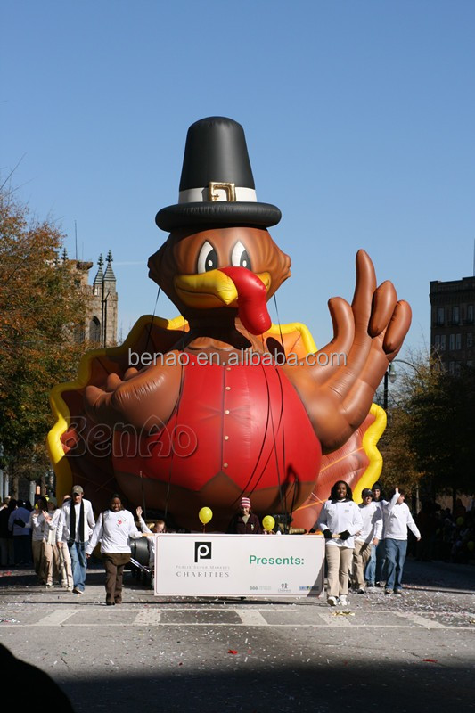 AC455 PVC Tarpaulin giant Inflatable Turkey for advertising