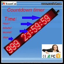 38x380 mm countdown timer display and moving message information display