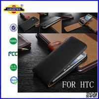 For HTC Desire eye Luxury Genuine Real Leather Case,Flip leather case for HTC Desire eye --Laudtec