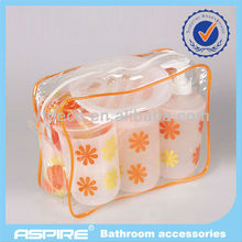 2013 Orange and yellow petal 6pcs hotel bathroom sets and accessories
