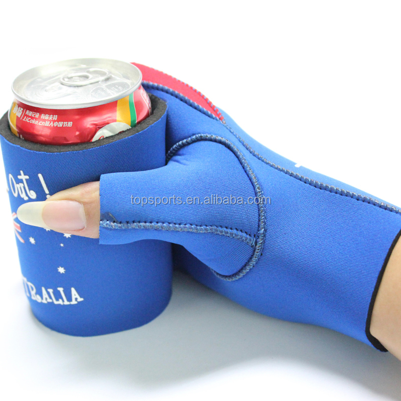High quality Neoprene beer stubby bottle cooler holder with glove