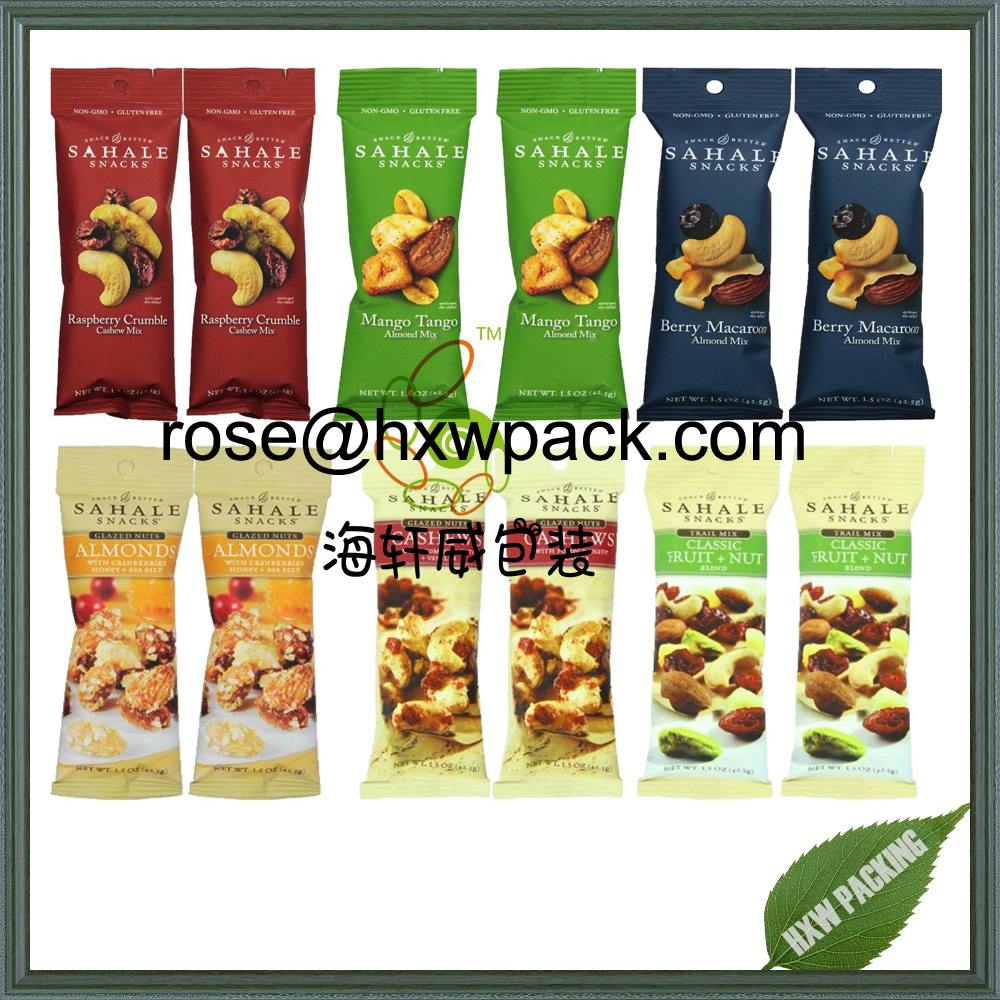 Colorful design tube shape snack food packaging bag