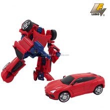 2018 Plastic Car Toys Deformation robot car for Boys Trace Robot With Weapons