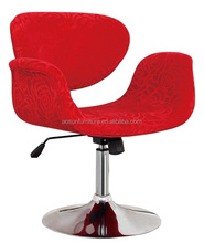 Comfortable Swivel and adjustable fabric bar chair with back/comfortable bar stool/chair supplier