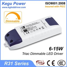 29 KEGU R31 6-15W Triac Dimmable LED Driver 300ma led driver with CE SAA