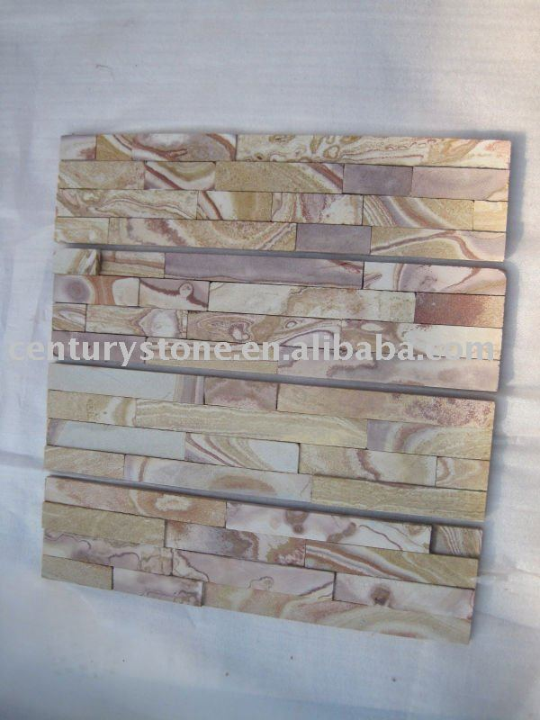 natural pink ledge stone