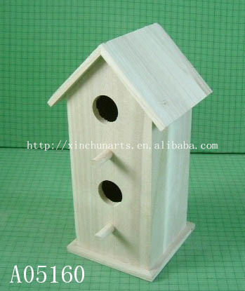 Garden Hanging Decorative Bird Cage/wooden Bird House